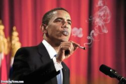 Obama Smokes His Own Red Line and Puffs the Smoke in Our Faces