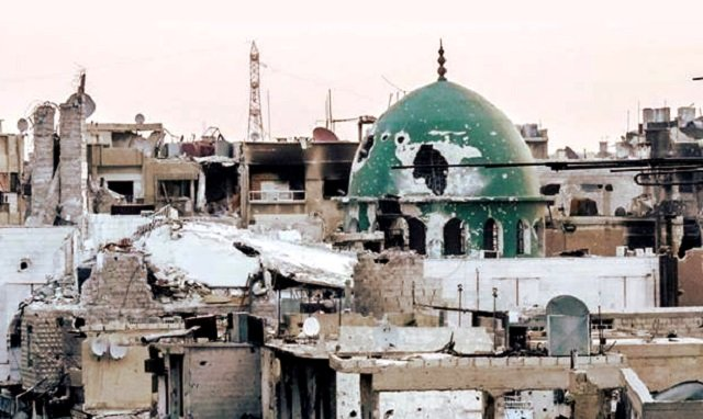 Fighting Traps 200 Civilians Inside Mosque In Qaboun