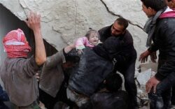 Syria conflict: Barrel bombs dropped on Aleppo