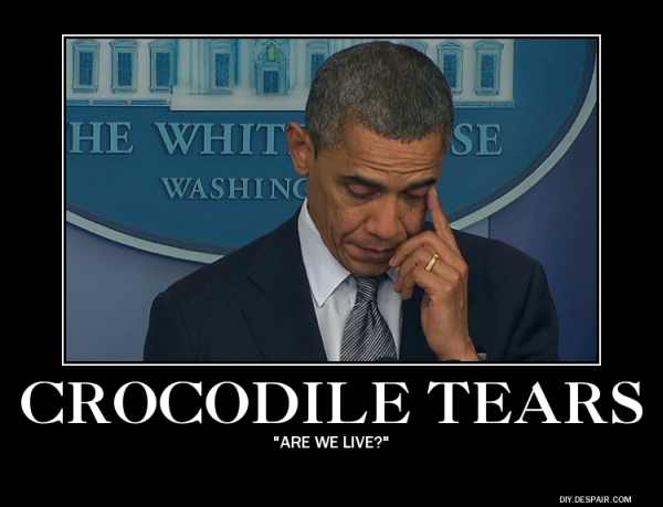 Crocodile tears president cries for the Jews