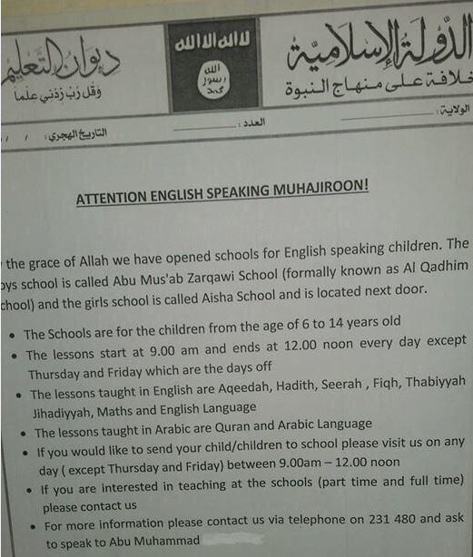 ISIS opens two English-language schools