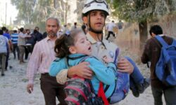 Syrian children killed in government barrel-bomb attack