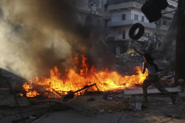 """""""Al Assad! Or we set the country on fire!"""""""