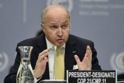 French Minister Laurent Fabius Wary on Iran Nuclear Deal