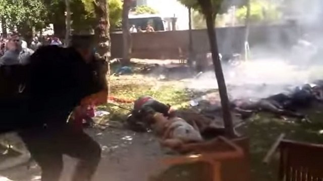 Blast Video Showing Aftermath of Explosion Inside Turkey