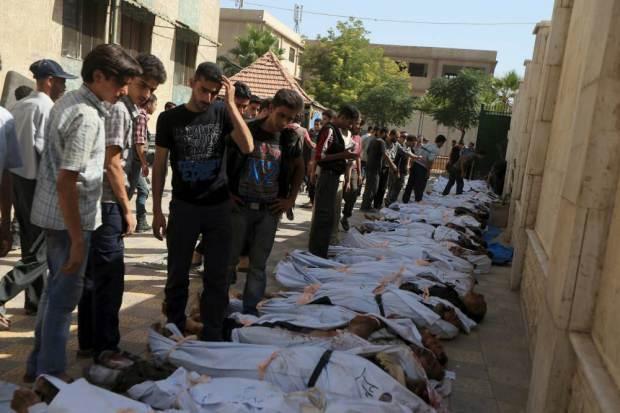 Assad Missiles Rained on Douma Killing 28 Civilians