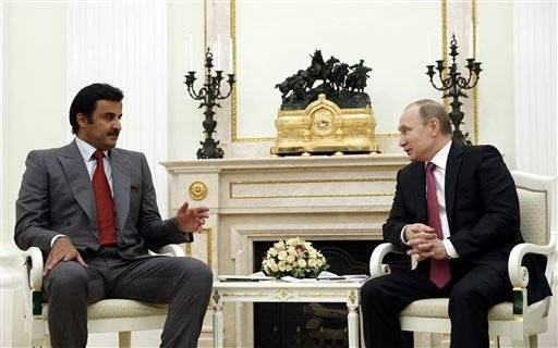 Falafel Witnesses Qatari Ruler Putin Meeting