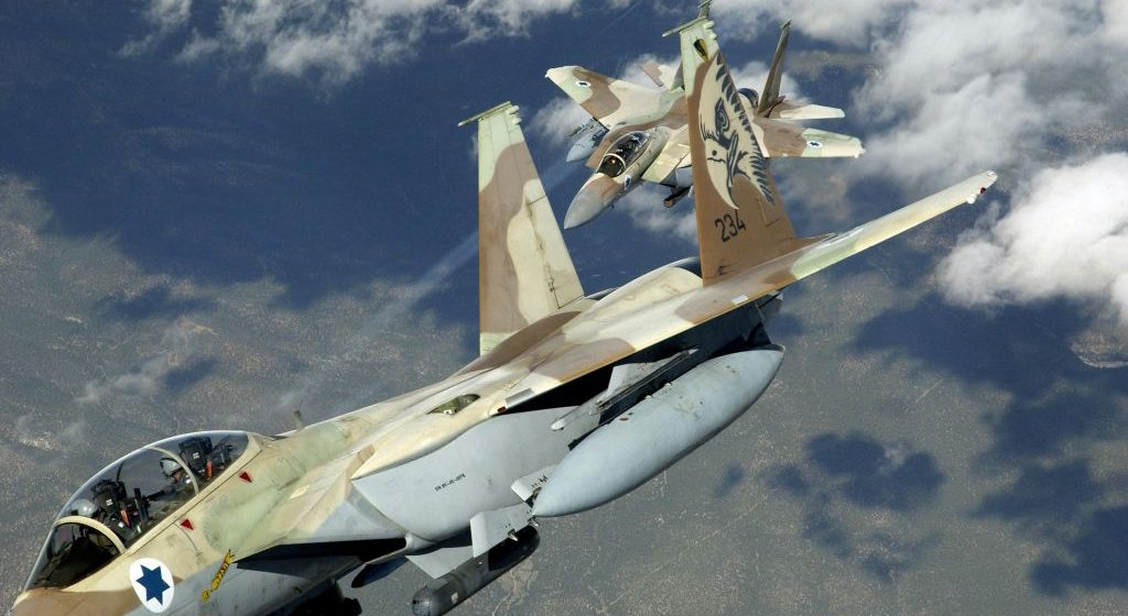 Hezbollah Demonstrating Israeli Effective Bombing Runs in Syria