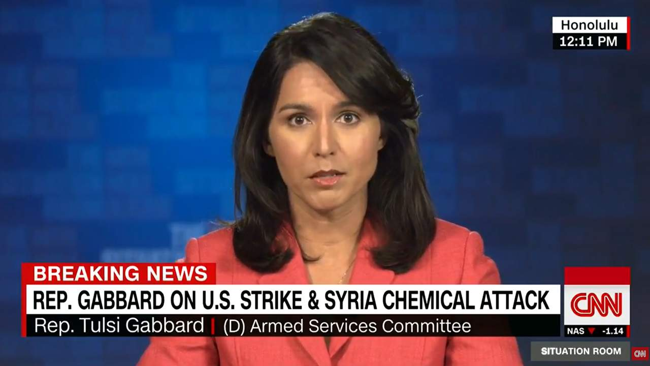 Assad Bitch Gabbard Calls Trump Saudi Arabia Bitch