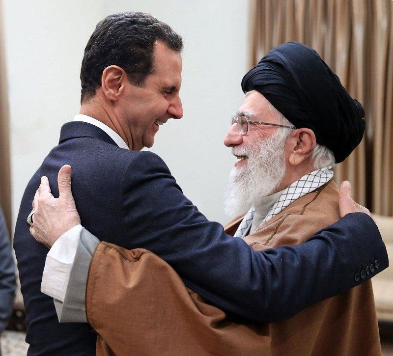 Chemical Assad Met Khamenei To Coordinate Terrorizing US Troops
