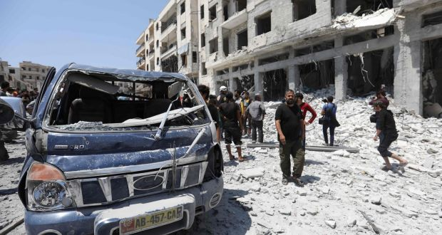Assad Shelling Idlib Civilians With Missiles