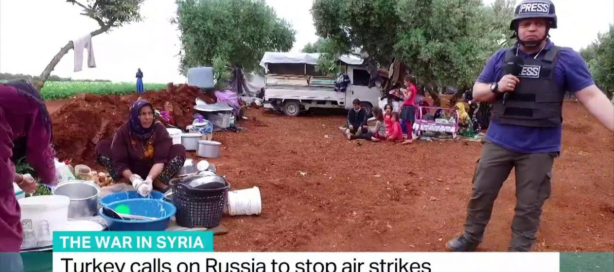 Olive Groves Provide Shelter to Thousands of Fleeing Syrians