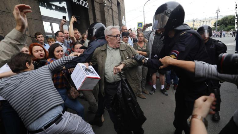 Moscow Election Protest Attracts Huge Crowds
