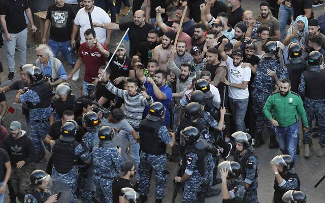 Hezbollah Thugs Attacked Peaceful Demonstrators in Central Beirut