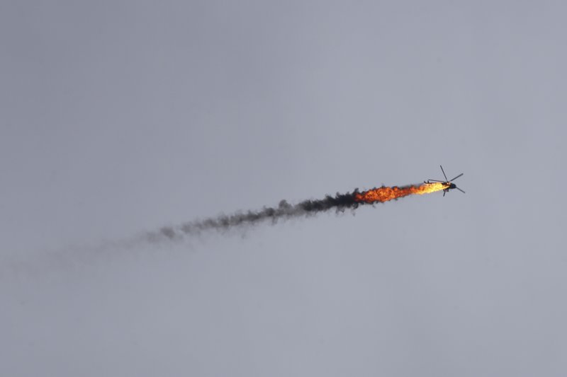 Syrian Opposition Shot Down a Barrel Bombing Helicopter